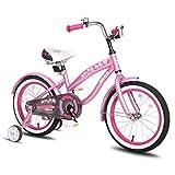 JOYSTAR Bicicleta para niñas con ruedas de entrenamiento para 12 14 16 pulgadas de bicicleta, soporte para 18 pulgadas de bicicleta, bicicleta de crucero para niños para 2 – 9 años de edad