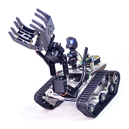 Smart Robot Car Kit mit Arm, Programmierbar Robot Car für Raspberry Pi, WiFi/Bluetooth Modul und 720P HD Kamera, DIY Smart Roboter Kit, Unterstütze iOS und Android APP