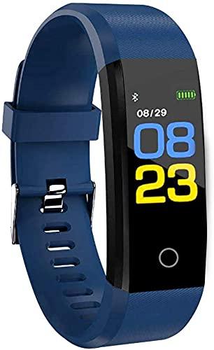 RBNANA Orologio fitness tracker, tracker attività per uomo, donna e bambino, tracker attività smart watch impermeabile con monitor del sonno, contapassi e cardiofrequenzimetro, blu