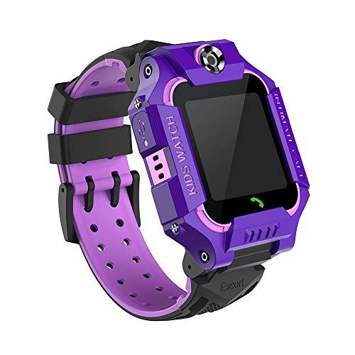 YMKT Reloj inteligente para niños y niñas, con pantalla OLED de doble cámara, SOS antipérdida, alarma, llamada deportiva, chat de voz, teléfono inteligente para niños, adolescentes y estudiantes