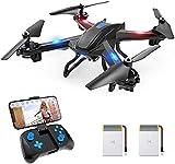 S5C Drone con Cámara 1080P HD, Dron WiFi FPV por Control Remoto, Control de Voz, Control de Gestos, Quadcopter Helicóptero con Headless Modo, Altitud Hold, G-Sensor, Modo Órbita, 3D Flip