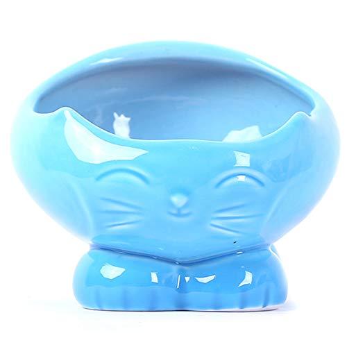 Ice con huisdier kom, kleine keramische Chinese stijl Lucky kat hond kat plaat voedsel water dispenser met kantelhoek