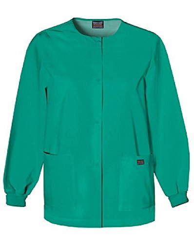 Cherokee Women's Warm Up Scrubs Jacket, Surgical Green, Medium