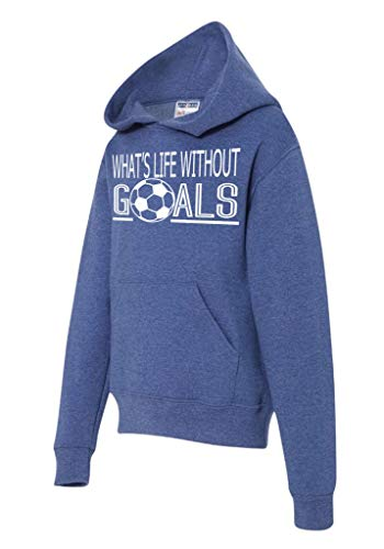 Soccer Athletic Sweatshirt for Active Teen Boy (What's Life Blue, Small)