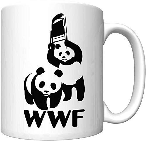 WWF Steel Chair Panda Parody Funny Coffee Mug