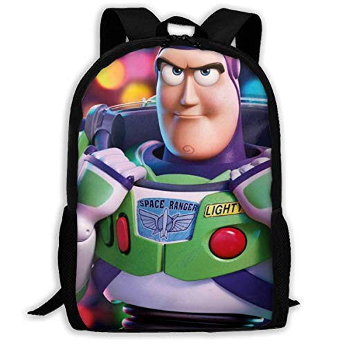 DJNGN Travel Backpack Cartoon Toy Story Buzz Lightyear Laptop Backpack Bookbag Capacity Lightweight Stationery Purse Bag for Girls Boys College School Women Men Office