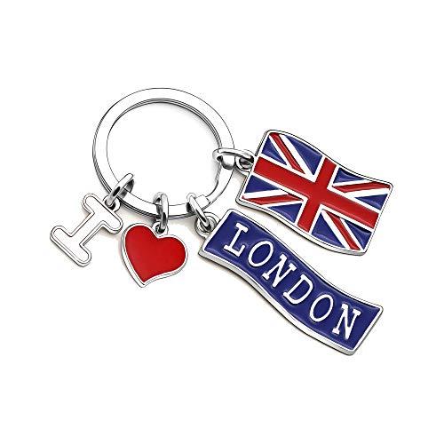KENYG - Llavero bandera Inglaterra texto