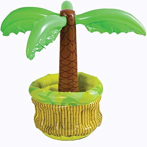 TangYang Posavasos, Cubo de Hielo Inflable de árbol de Coco, Cubo de Hielo Inflable para Fiesta en la Piscina, Cubo de Bebida Helada, Enfriador de Palmera con Tema Tropical