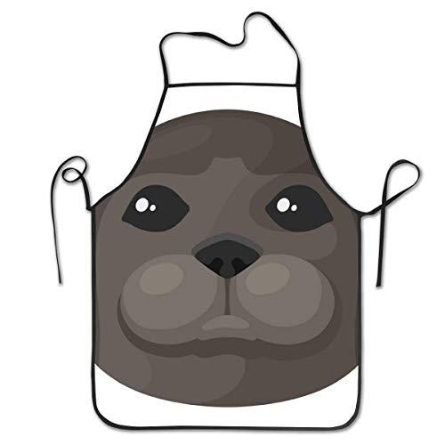 Testa di foca di Vitello Marino Carino Unisex Cucina Cucina Grembiule Cuoco Cottura Artigianato Giardinaggio Bavaglino Barbecue