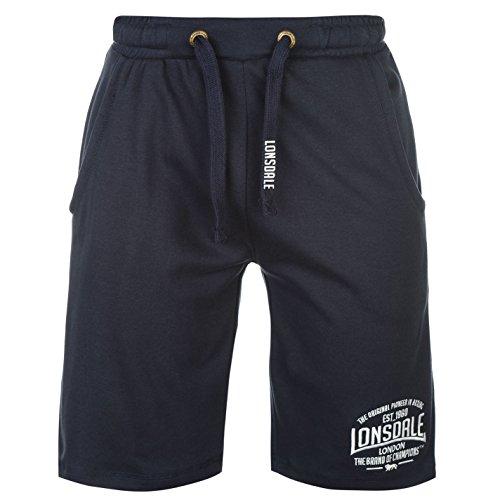 Lonsdale Herren Boxen Leichte Shorts Boxhose Taschen Marineblau M