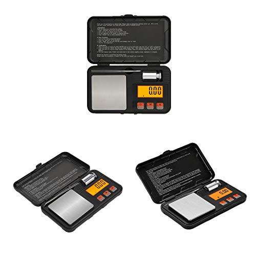 CUTICATE Peso de La Escala de La Comida Del Oro de La Joyería de La Cocina Del Equilibrio Electrónico Digital de 3Pc 0.001-200g