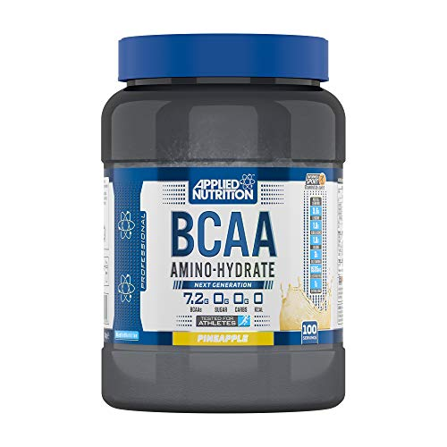 Applied Nutrition BCAA Powder Branched Chain Amino Acids Supplement with Vitamin B6, Replenish Electrolytes Amino Hydrate Intra Workout Recovery Powdered Energy Drink 1.4kg 100 Servings (Pineapple)