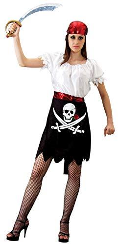 Piraten Kostüm für Damen Fasching Piratin Rock Frauen Karneval Größe M-L
