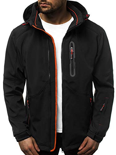 OZONEE heren softshell jas regenjas waterdicht ademend softshell jas overgangsjas winterjas windbreaker ski-jas winter capuchon herenjas outdoor GE/12263