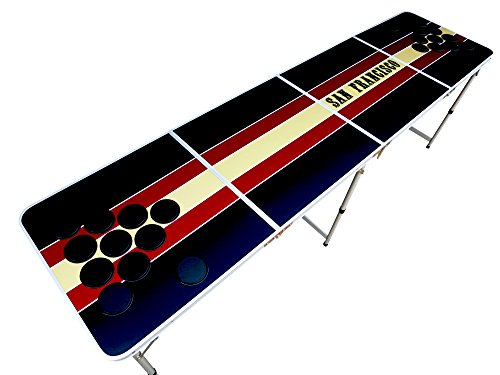 Red and Gold San Francisco Beer Pong Table