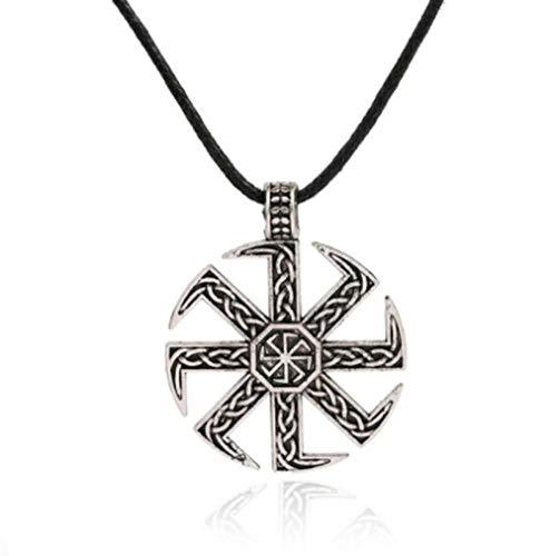 Collar Colgante Joyería Hombres Mujeres Sun Wheel Amuleto Colgante Collar-1