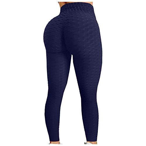 Honeycomb Yoga-Hose Damen Sport-Leggings Normallack Gym Fitness Jogginghose Tummy Control/Anti-Cellulite/abnehmen Geraffte Leggins Trainingshose