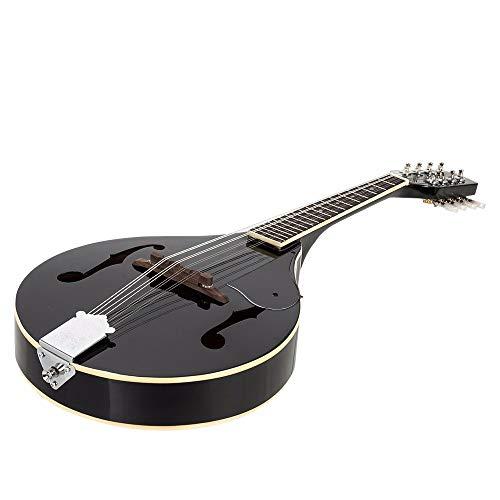 TTHH Handgemachte Klavier-Mandoline, Elegante Schwarze Mandoline mit Schutz, westliches Musikinstrument, handgemacht