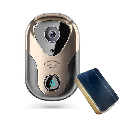 Videoportero con control Desde movil. App con Funciones de Aviso Alarma para Vision y Escucha remota Desde teléfono móvil Yoosee AZ07 (Con timbre interior)