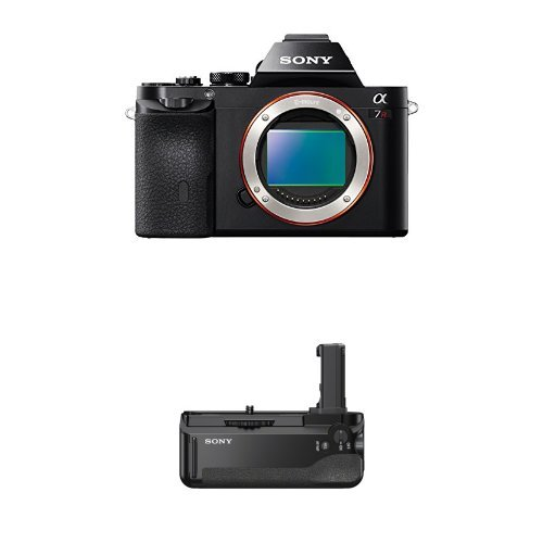 Sony a7R Full-Frame Interchangeable Digital Lens Camera - Body Only with VGC1EM Digital Camera Battery Grips