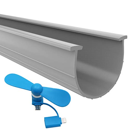 The 2021 Gray Garage Door Bottom Seal | 20 Foot, 3.5-3.75 Inch Width Garage Door Seals Bottom Rubber Replacement Kit | T-Ends Garage Door Weather Seal Threshold Strip | Easily Cut & Adapt to Doors