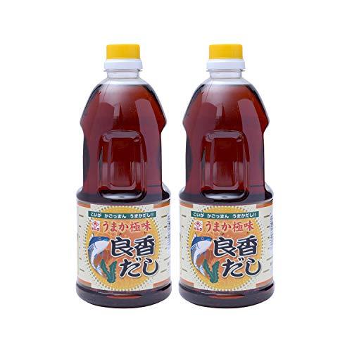 [藤安醸造(ヒシク)] だし醤油 良香だし 1L うす色仕立て ×2本