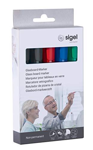 SIGEL GL711 Juego de 5 rotuladores de tiza