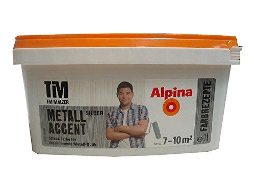 Alpina, Tim Mälzer Farbrezepte, Metall Accent Silber, 1 L., Effekt-Farbe, Wandfarbe
