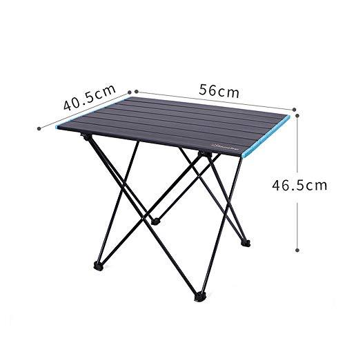 PPTS - Mesa plegable multifuncional para acampada al aire libre plegable y plegable (varios tamaños), Noche oscura M, 40.5*56*46.5cm