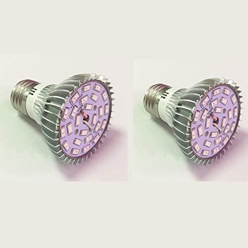 Horseshoe LED Pflanzenlampe E27 Pflanzenlicht Growlicht LED-Pflanzen-Wachstumslampe 8W Für Obst Gemüse Pflanzen Innen-Gewächshaus Glashaus Blumen (2 Pack)