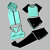 AAJIA,Ropa Deportiva,Conjuntos de Yoga para Mujeres Juego de 5 Piezas Conjuntos de Ropa para Mujeres Ropa de Gimnasia para Mujeres Ropa Deportiva Entrenamiento Deportivo Ropa de entrenamient