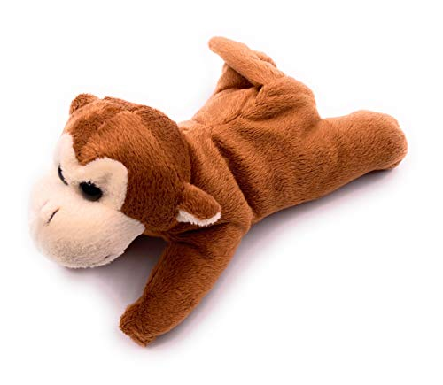 Onwomania Plush toy soft toy cuddly toy capuchin monkey animal monkey monkey length 17 cm brown