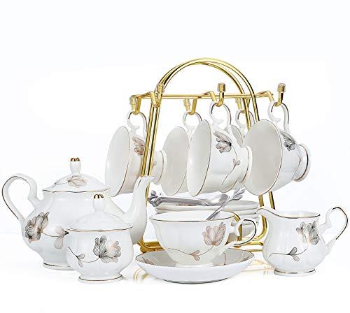 CHP 21-Piece Porcelain Ceramic Best Adult Tea Set