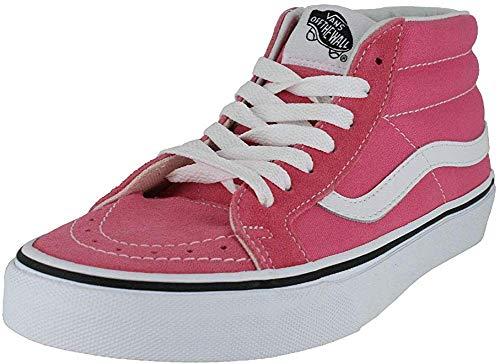 Vans Sk8-Mid Reissue Checkerboard/True White VN0A391FQXH Skate Shoe (7.5 M US Women / 6 M US Men, Pink Lemonade True White)