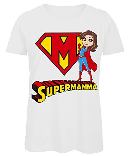 Bughyprint Maglietta Donna Festa della Mamma Supermamma, S