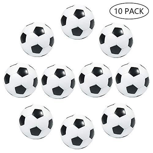 MOOKLIN ROAM 10 Pezzi Calcio Balilla 32mm Palline per Calcetto Stile Calcio Classico in Plastica Dura Mini Piccole Palle Ricambio per Gioco Tavola Biliardino (Nero e Bianco)
