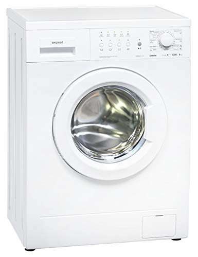 Exquisit Waschmaschine WM 6910-10 | Frontlader |6 kg Fassungsvermögen |weiß
