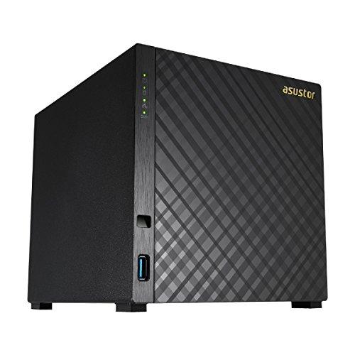 Asustor AS1004T NAS Ethernet Negro Servidor de Almacenamiento - Unidad Raid (Unidad de Disco Duro, Serial ATA II, Serial ATA III, 3.5', 32 TB, 0, 1, 5, 6, 10, JBOD, FAT32,HFS+,NTFS,ext3,ext4)