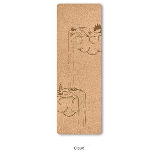 Alfombrilla de Yoga Antideslizante Antideslizante Yoga Mat Cork Aptitud Mats Posición Línea Natural Yoga Mat Colchón Esterillas Formación (Color : C)