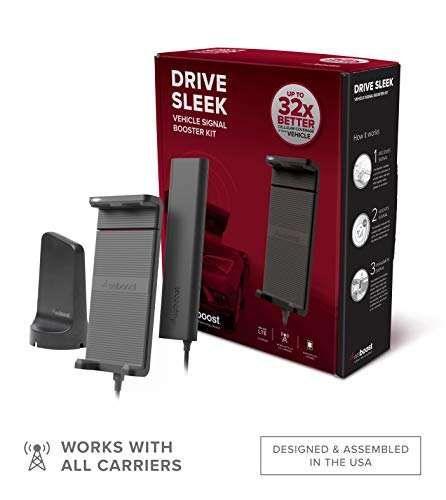 weBoost Drive Sleek (470135) Cell Phone Signal Booster Cradle Mount Holder for Car, Truck and RV Use - Verizon, AT&T, T-Mobile, Sprint