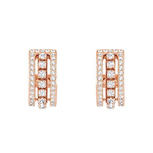 Swarovski Further Ohrringe für Frauen, weißes Kristall, rotgold glänzendes Finish