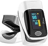 Heartbeat O2 Professioneller Finger Oximeter Alarmfunktion & drehbarem OLED Display, Herz Puls genauen Messung Sauerstoff-Sättigung (SpO2) der Herzfrequenz