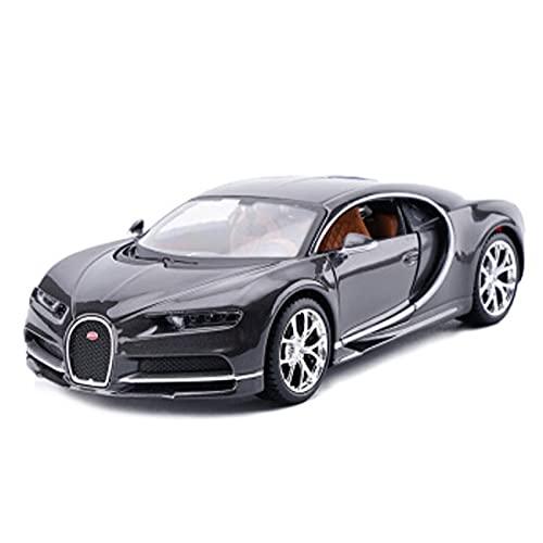 HXGL-Drum Modelo de automóvil, Compatible con el Modelo de Auto de simulación de aleaciones de aleaciones de automóviles Bugatti, Adecuado para recolección/Juego/Adornos de decoración del hogar