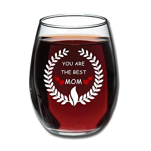 Weinglas - Du bist die Beste Mutter Upgrade Gravieren Obst Glas Good Handheld Neuheit Dekoration White 350ml