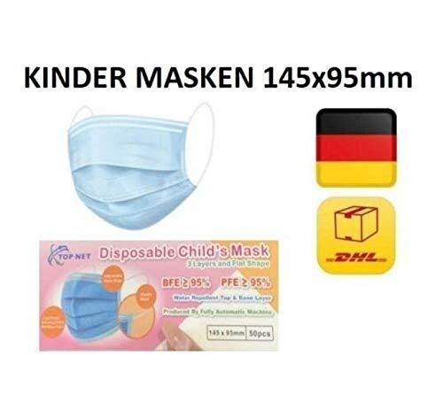 10x DECADE Kinder MÄDCHEN ROSA Einweg Gesichtsschutz Maske Schutz Anti Beschlag gute Sichtbarkeit