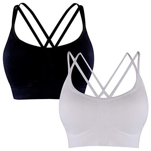 Libella Sujetadores Deportivos Brasieres para Dama Confortables sin Tiras Apto para Dormir para Deportes Costura 3749