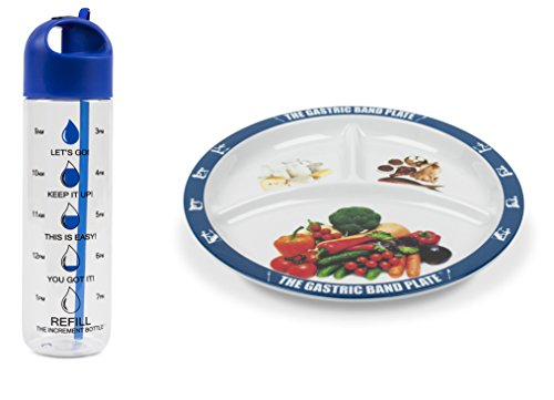 The Gastric Band Plate Increment Bottle Blue Basilica Diet Slimming Weight Loss Set