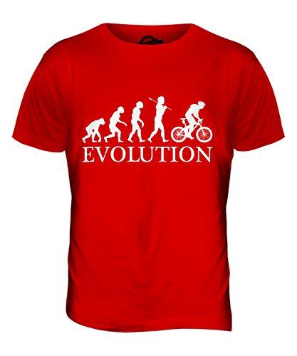 Candymix Vélo Tout Terrain Évolution T-Shirt Homme, Taille Medium, Couleur Rosso