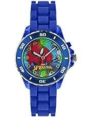 Orologio per bambini al quarzo con quadrante analogico multicolore e cinturino in gomma blu, motivo: Spiderman, SPD3415