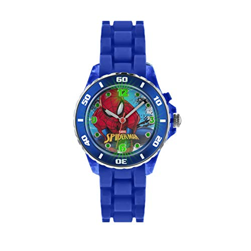 Spiderman Kinder Analog Quarz Uhr mit Gummi Armband SPD3415